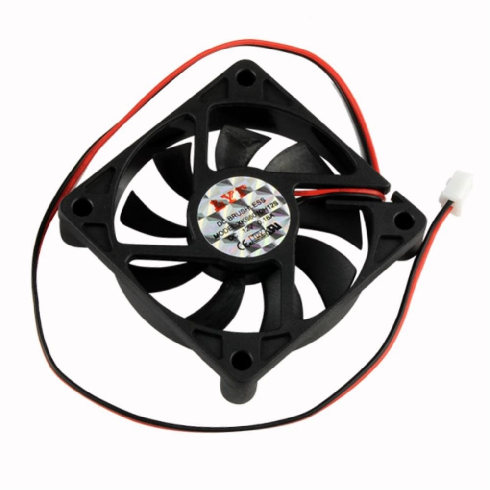 YCDC PROMOTION! Hot Desktop PC Case DC 12V 0.16A 60 x 60 x 12mm 2 Pin Cooler Cooling Fan Computer PC Cooler Exhaust Blower Black