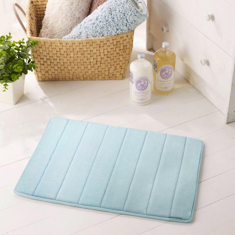 Absorbent Bathroom Mat Durable Fast Drying Memory Foam Mat Microfiber Non-slip Multifunction Floor Door Bathtub Shower BathMats enlarge