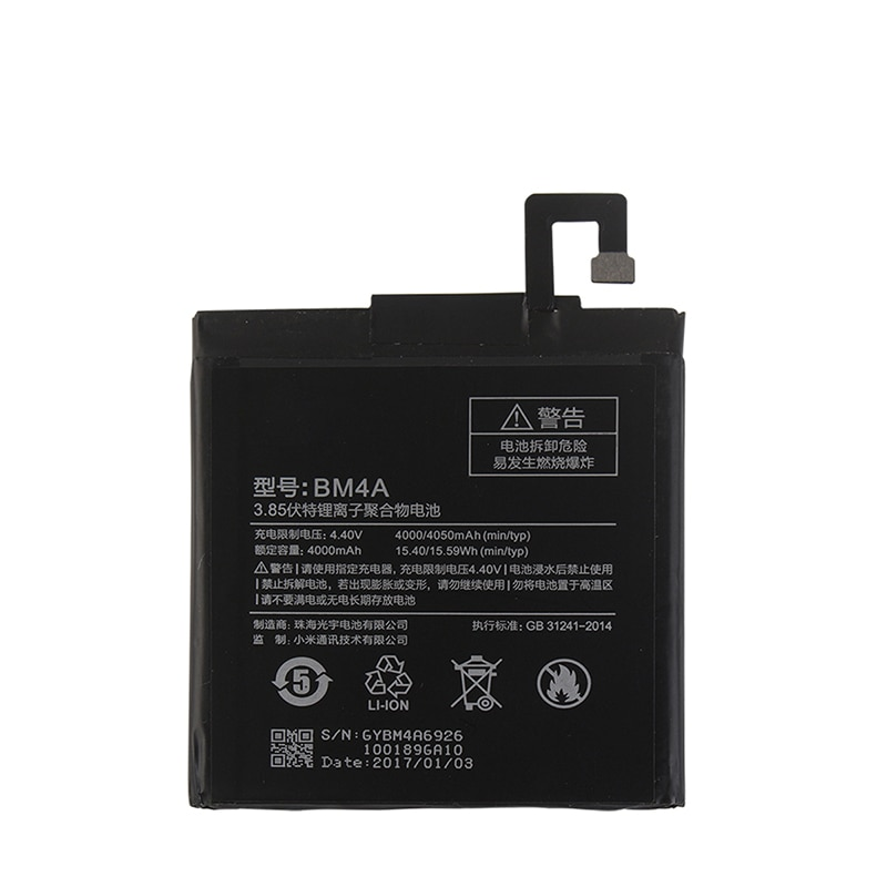 Аккумулятор для Xiaomi Redmi Pro BM4A 4000 мАч 100% Новый Сменный аксессуар Аккумуляторы