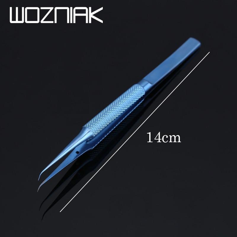 Titanium Alloy/Stainless Steel Professional Repair Tool 0.15mm Edge Precise Fingerprint Fly Line Picker Tweezers Straight Bend