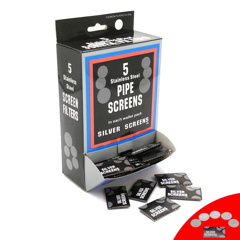 1000 Uds (2 cajas) pantallas de tubo de plata para Metal/vidrio/madera/acrílico/agua tabaco pipa filtros Shisha/Hookah Gadget