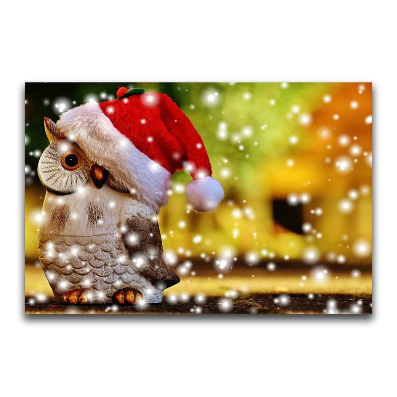 H2335 Алмазная картина Снежная сова, алмазная вышивка полная упаковка сова