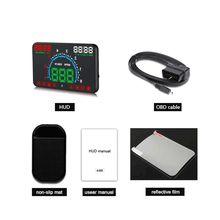"2019 E350 5.8"" Screen HUD Car Head Up Display Engine Fault Fuel Alarm Speedometer New"