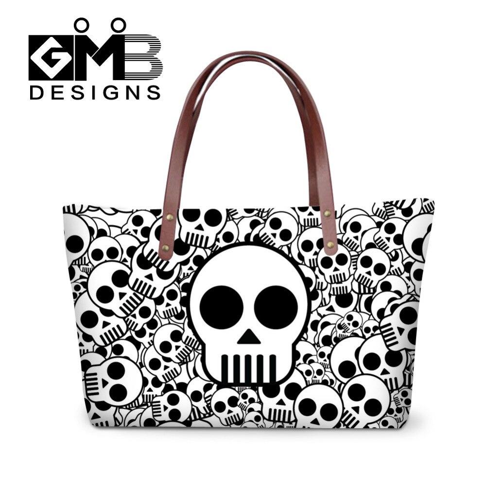 Bolso de mano con diseño de calavera para Mujer, bolso de hombro informal de San Valentín para Mujer, bolso de compras grande para Mujer