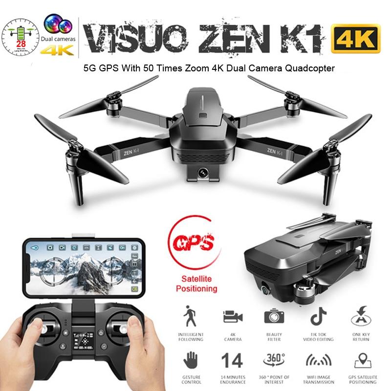 Cuaderno visual ZEN K1 GPS Drone con cámara Dual 4K 50 veces Zoom 5G WiFi FPV de flujo óptico sin escobillas RC helicóptero Quadcopter juguetes del F11