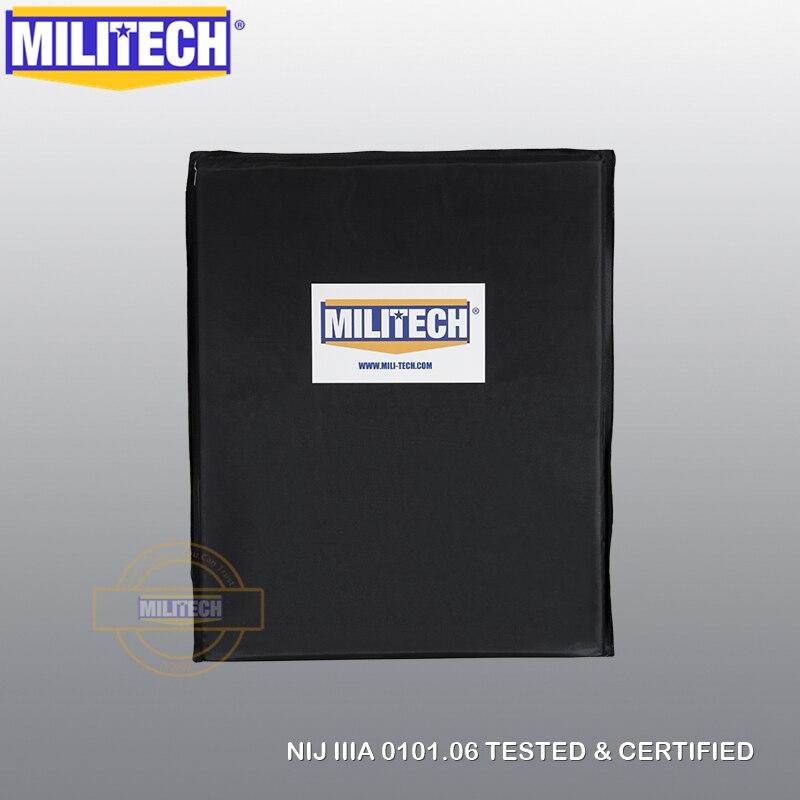 MILITECH-لوح أراميد ناعم مضاد للرصاص ، 11 × 14 بوصة ، مستطيل ، NIJ 3A ، 0115.00 Lvl2 ، درع للجسم مقاوم للطعن