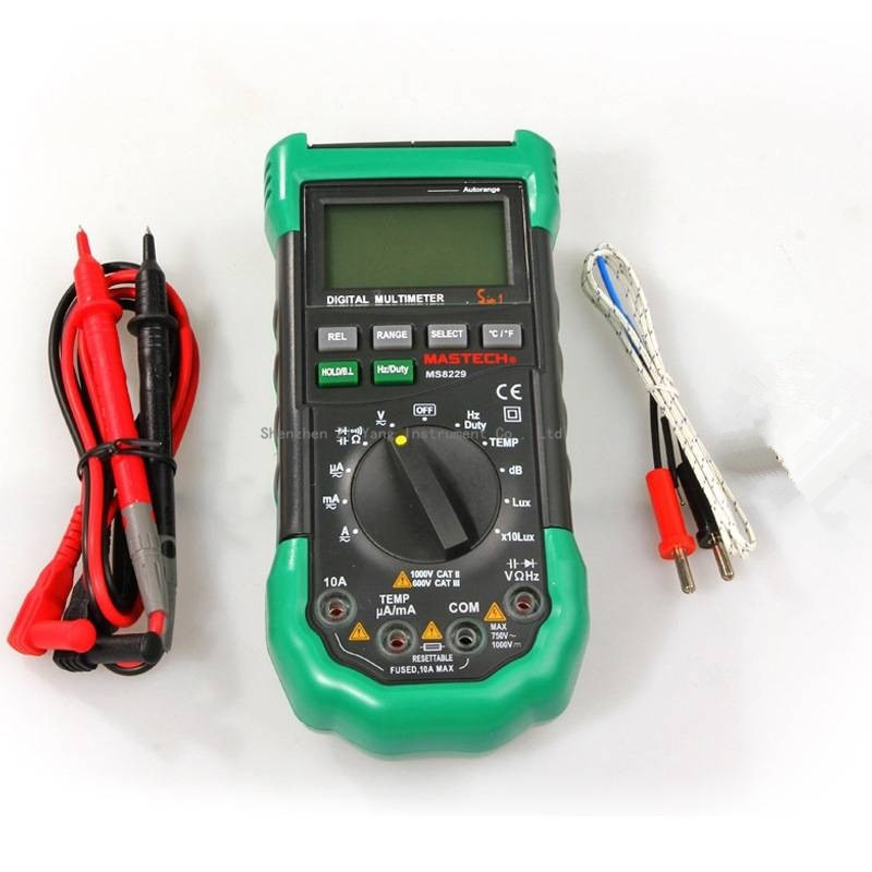 Original Mastech MS8229 5 in1 Auto range Digital-Multimeter Multifunktions Lux Sound Level Temperatur Feuchtigkeit Tester Meter