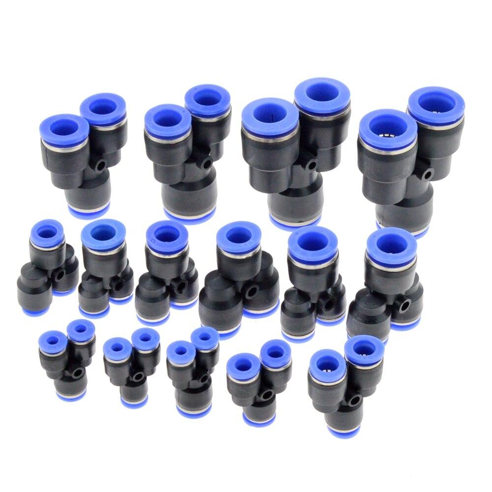 Пневматический шланг y-образной формы, 3 порта, 12 мм, 8 мм, 10 мм, 6 мм, 4 мм