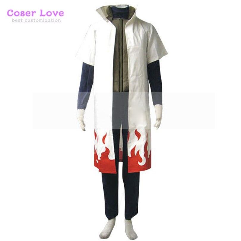 Naruto yondaime 4th hokage namikaze minato cosplay traje de halloween traje de natal