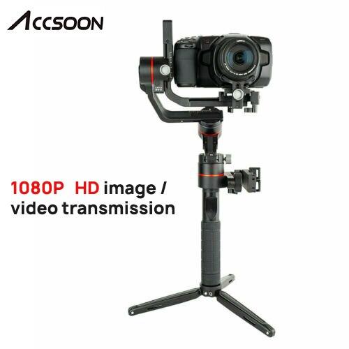 Accsoon A1-PRO 3-المحور يده Gimbal مثبت ل DSLR كانون كاميرات تحميل 3.6 كجم سينمائية العين 1080P اللاسلكية صورة Transmissing