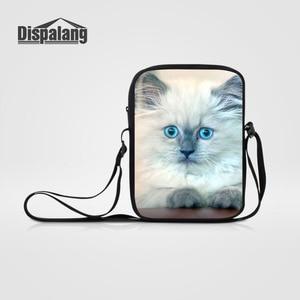 Dispalang Women Mini Messenger Bags Children Cute Cat Printed Shoulder Kids Cross Body Bag for Girls Boys Casual Bags Mochila