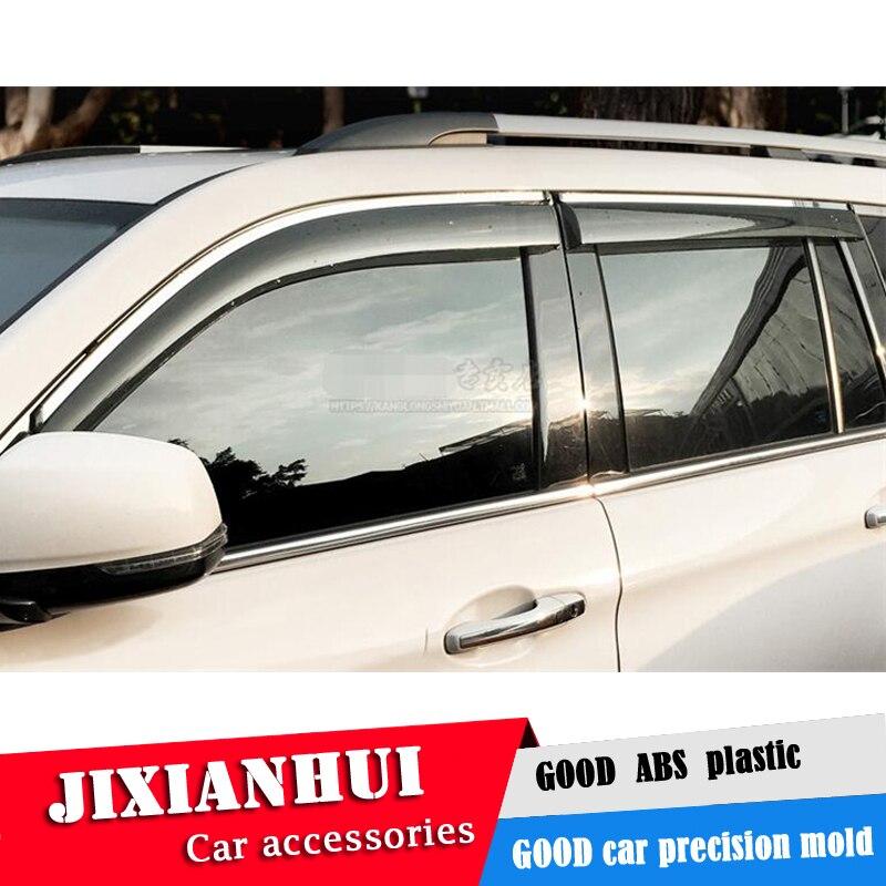 For benz GL Plastic Window Visor For benz GL 2006-2012 Vent Shades Sun Rain Deflector Guard 4PCS/SET Car Styling
