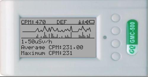 GQ GMC-500 Geiger Counter Radiation Detector Monitor Dosimeter Beta Gamma X-Ray