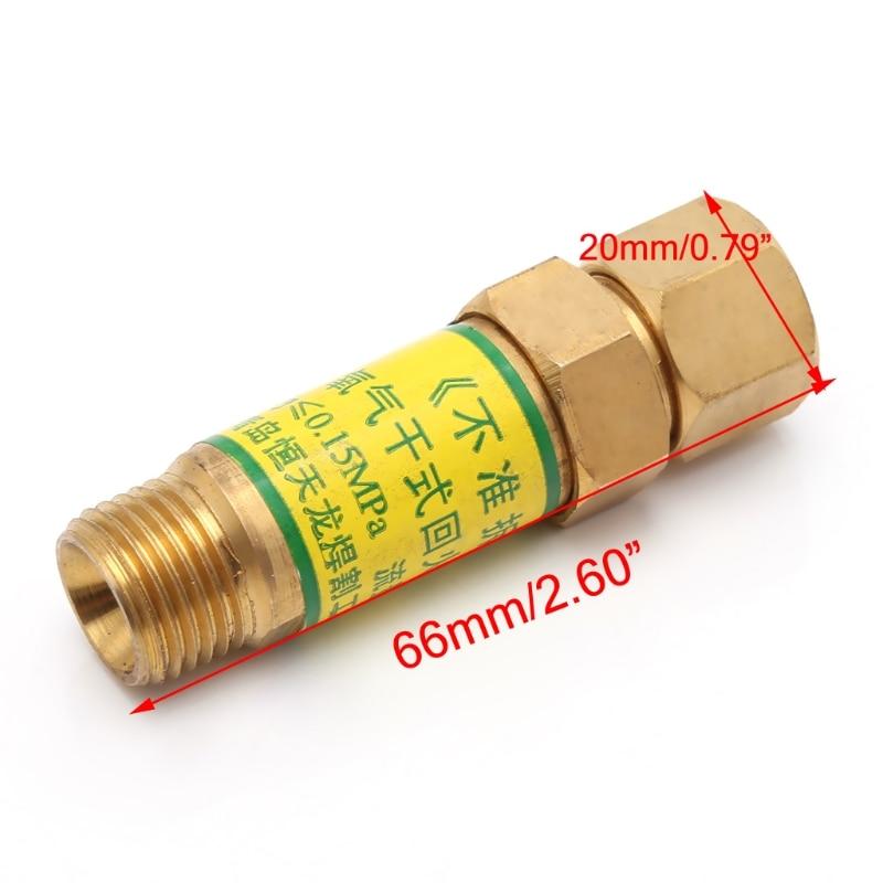 Interceptor de retroceso de la llama M16x1.5, válvula de retención de oxígeno acetileno para reductor de presión, boquillas de soldadura para soplete de corte G08 4 de abril