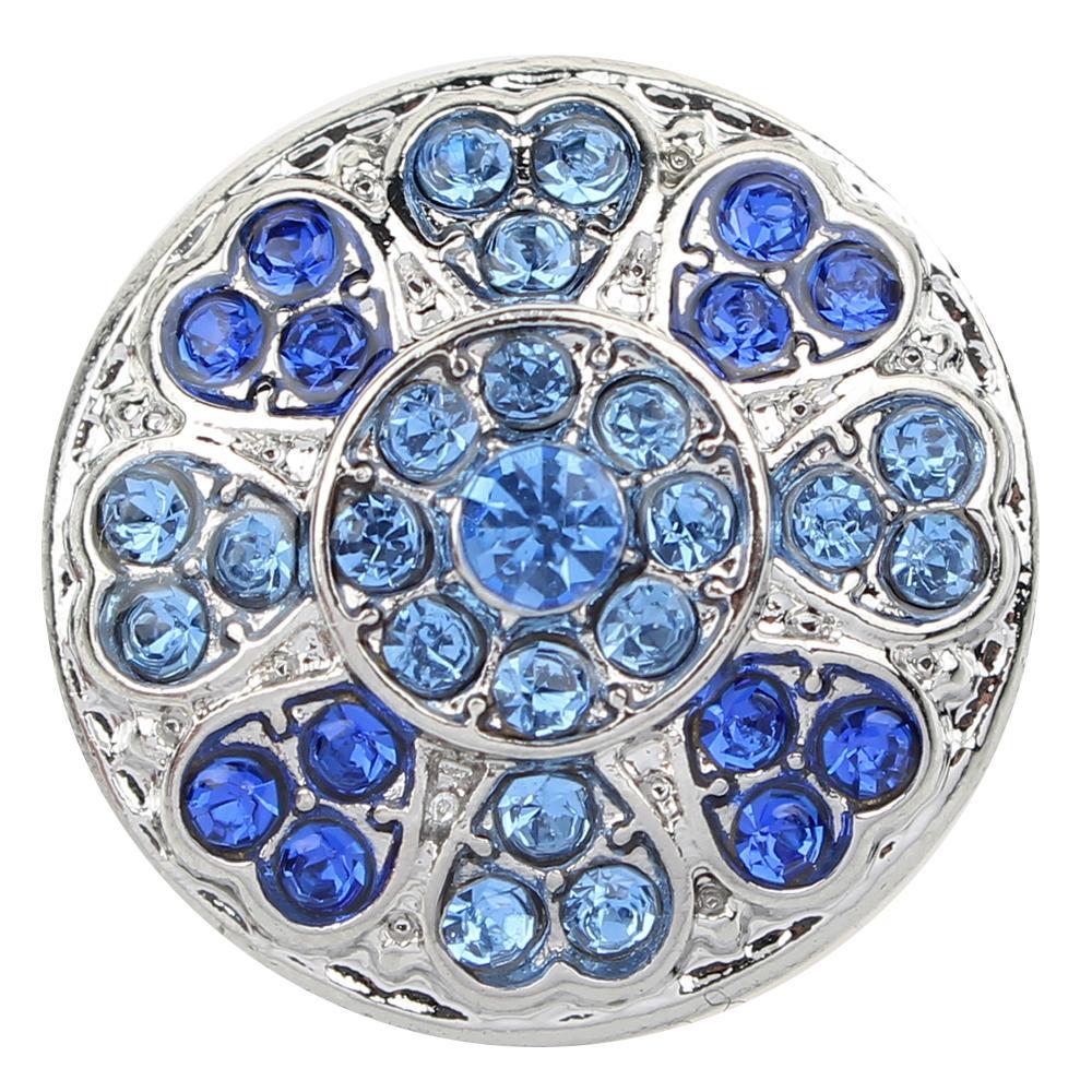 JaynaLee 20mm cristal azul Snap Charm Pops Fit jengibre broches joyería intercambiable para Mujeres Hombres regalos GJL0036