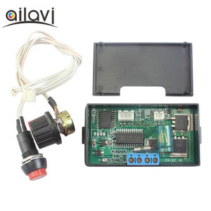 150W Digital Display Line Control DC PWM Motor Governor Motor Speed Control Switch 12v24V Stepless Controler 6A with Housing