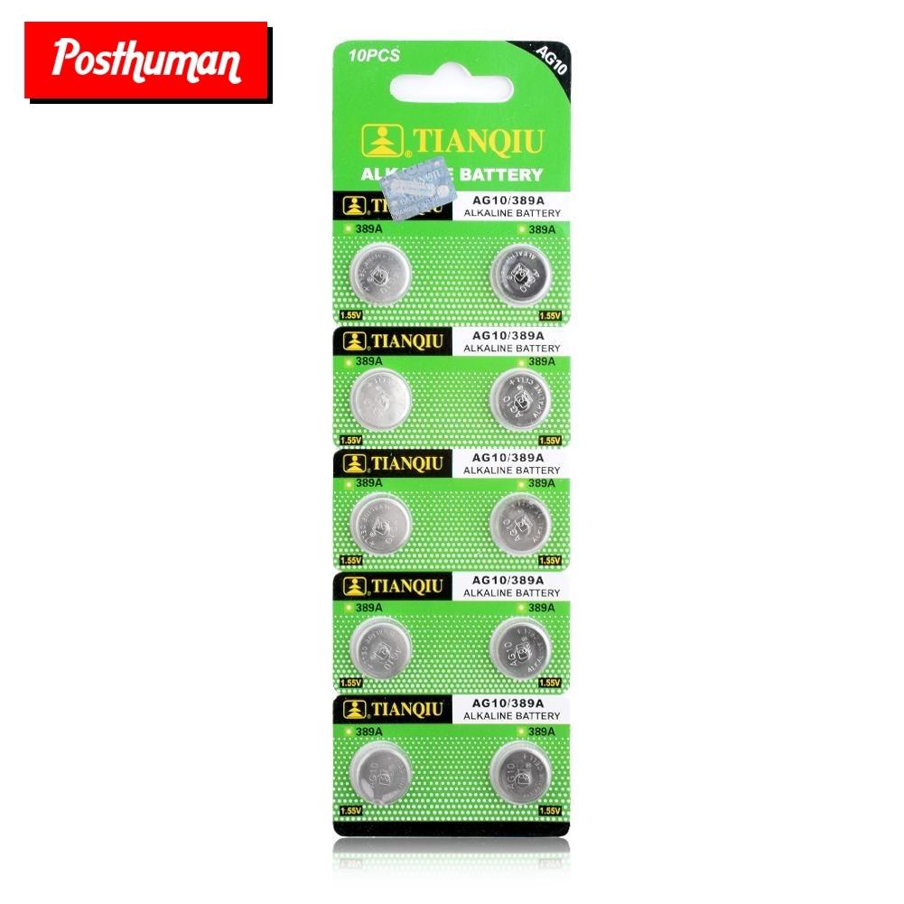 POSTHUMAN Cheap+Hot Selling+Bateria Button Battery AG10 LR54 LR1130 L1131 389 189 10 Pcs 1.55V Alkaline Batteries Button NEW