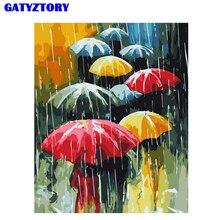 Parapluie sans cadre bricolage peinture numérique   Peinture numérique avec numéros peinte à la main, peinture à lhuile dart murale moderne, pour cadeau Unique 40x50cm