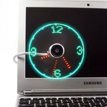 Регулируемый USB гаджет, часы-вентилятор, настольный USB светодиодный светильник, охлаждающий гаджет с гибким шнуром и питанием от USB