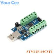 STM32F103C8T6 USB Interface 10 Kanaals 12Bit AD Bemonstering Data-acquisitie STM32 UART Communicatie ADC Module