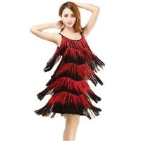red latin dance costumes women salsa dancewear dance costume dresses ballroom competition dresses tango adult fringe latin d