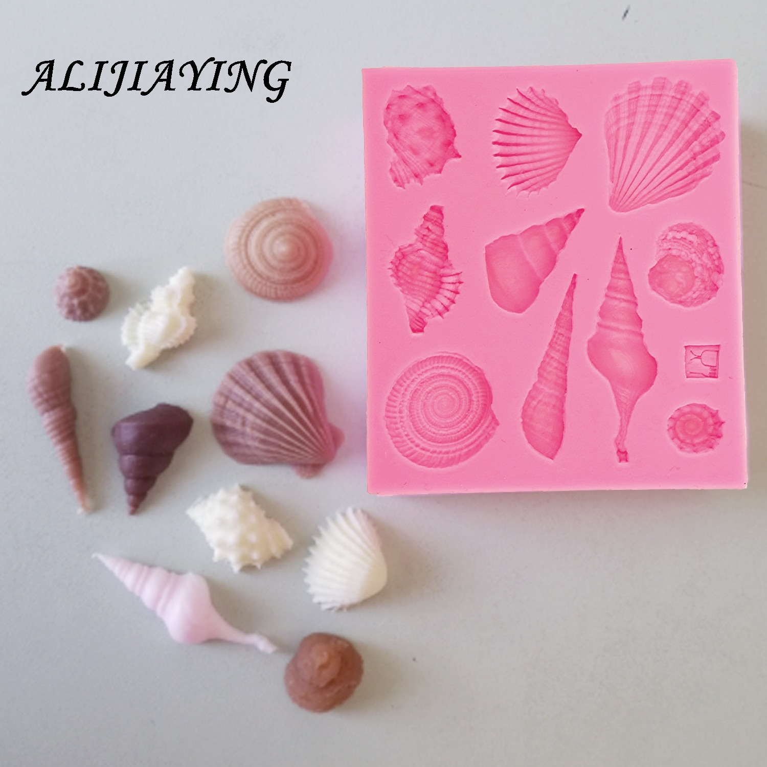 1Pcs DIY Lovely Shell Starfish Conch Sea Silicone Mold Fondant Cake Decorating Tools Soap Chocolate D0542