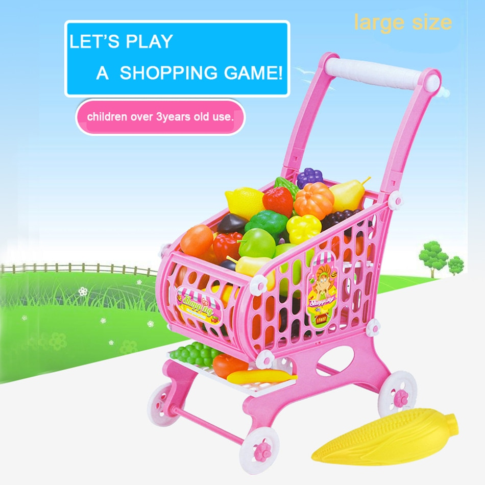 children s toy doll stroller play pretend toy children s toy cart girl play house toy trolley birthday gifts brinquedos juguetes 15Pcs large size Supermarket Pretend & Play Shopping Cart Toys Set Children Home Educational Toy Child Play House Sets Toy