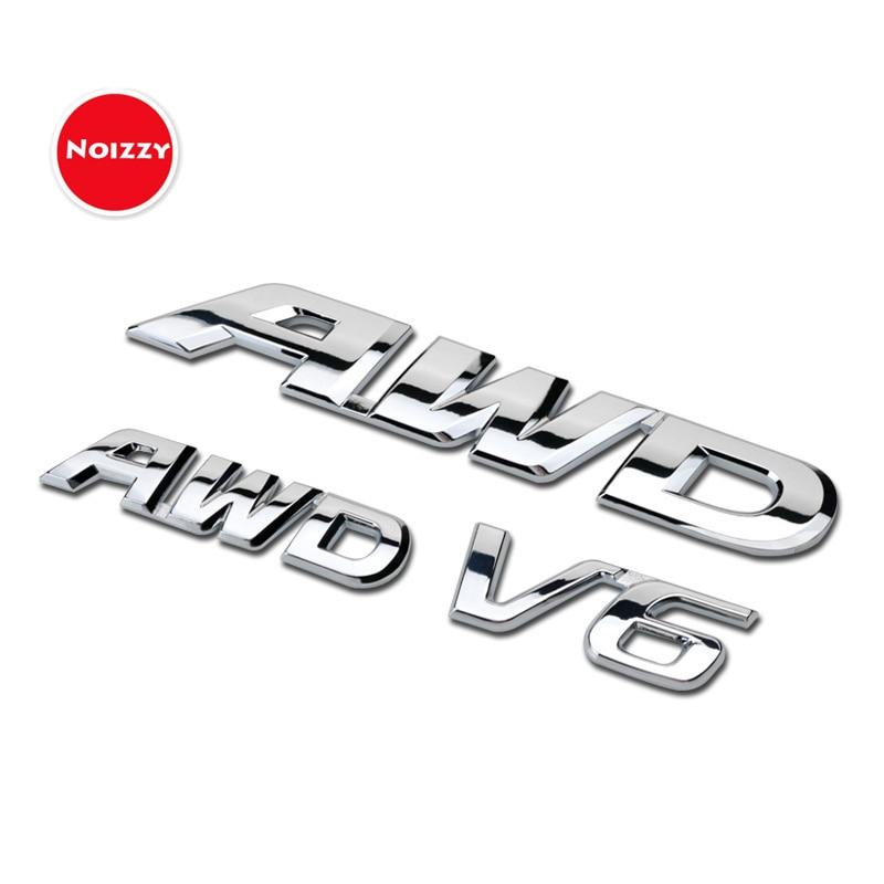 Pegatina de coche Noizzy AWD Ho V6, insignia de coche, emblema cromado, Tuning 3D, guardabarros para Honda CRV Civic Crosstour Accord Spirior XRV