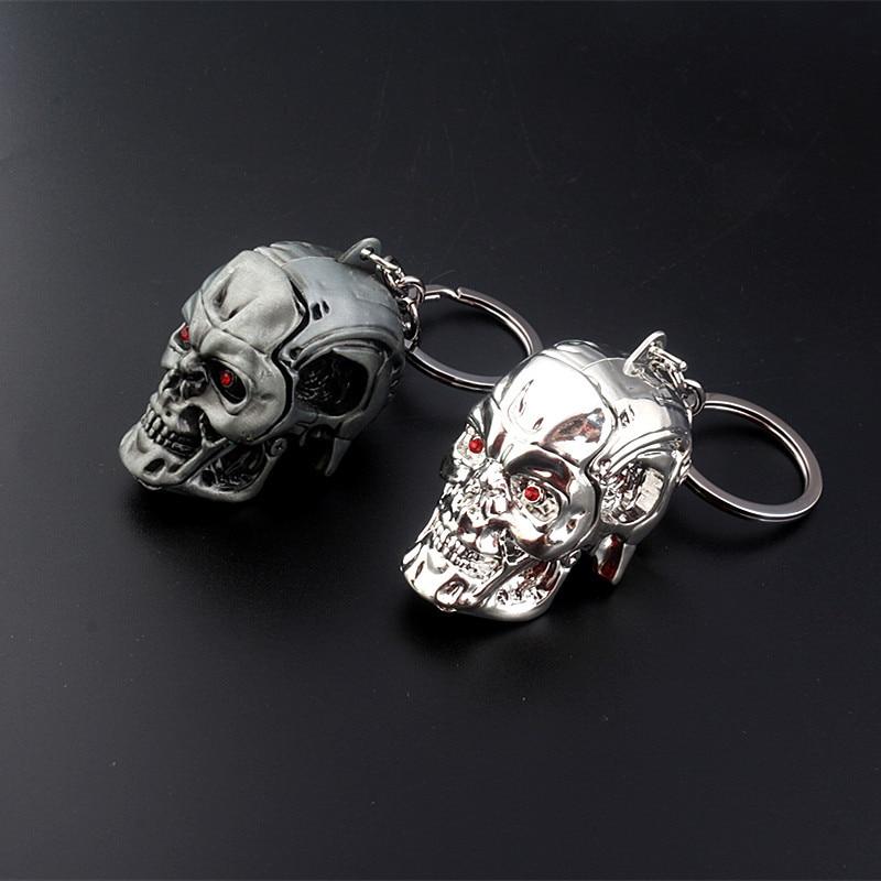 Llavero Terminator 3D T-1000 calavera llaveros para regalo llavero de coche llavero joyería llavero de película accesorios de recuerdo