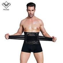 Wechery modelujące pasy gorset waist trainer mężczyźni pas wyszczuplający brzuch gorset dla mężczyzn urządzenie do modelowania sylwetki faja reductora brzuch cinta modeladora