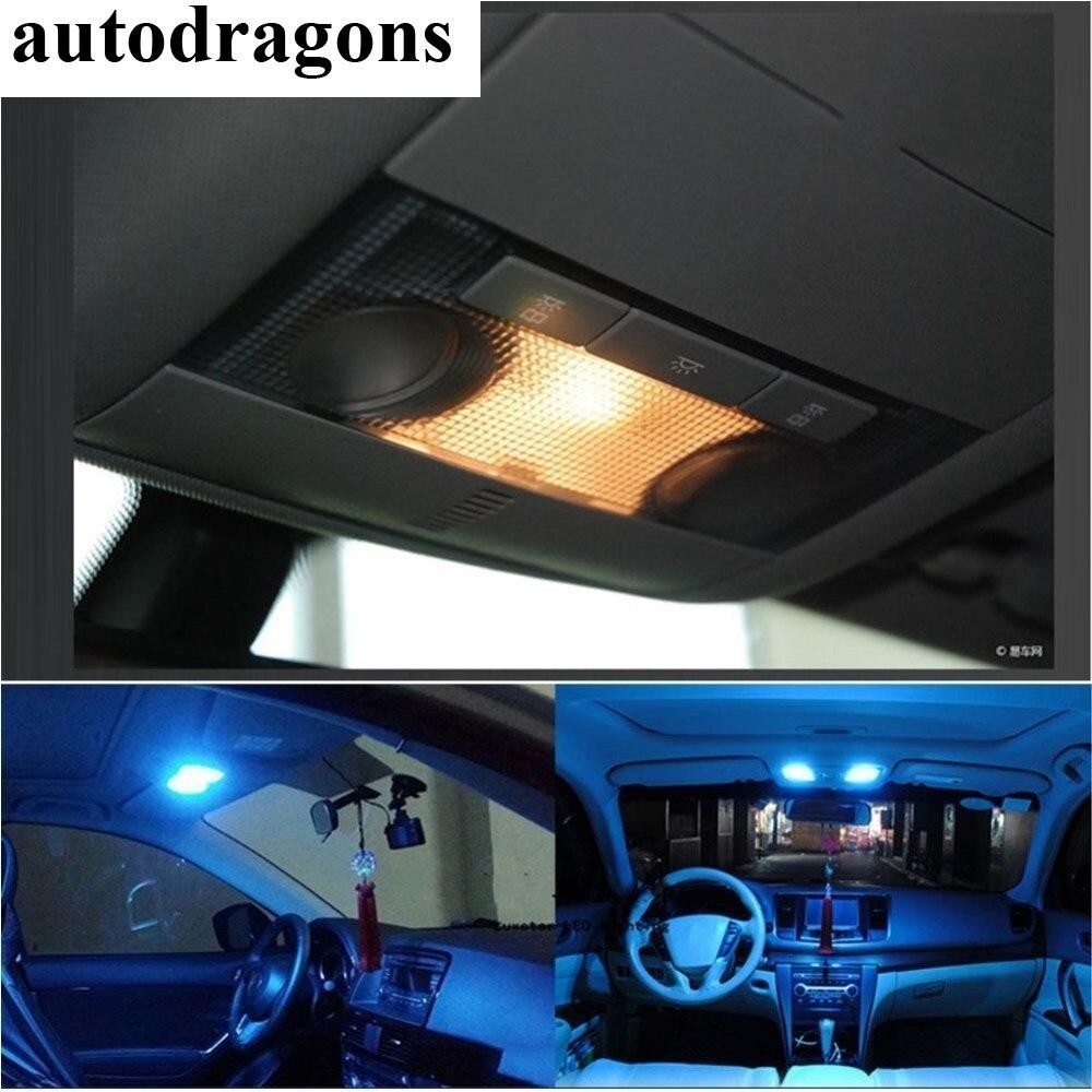 Autodragons 2 uds RGB LED 31/36/39/ 41mm 5050 SMD 6 bombilla LED DC12V Auto luces de adorno de lámpara Super bombillas de estilo de estacionamiento de energía