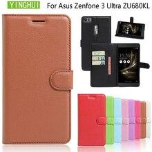 YINGHUI portefeuille Style PU etui en cuir pour asus Zenfone 3 Ultra ZU680KL 6.8