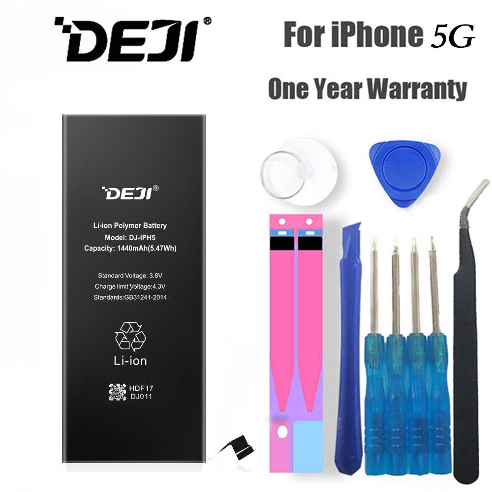 DEJI Bateria Para iPhone 5/5G de Alta Qualidade Real Capacidade 1440 mAh Li-Polímero Baterias de Telefone Interno kit de Ferramentas de substituição Livre