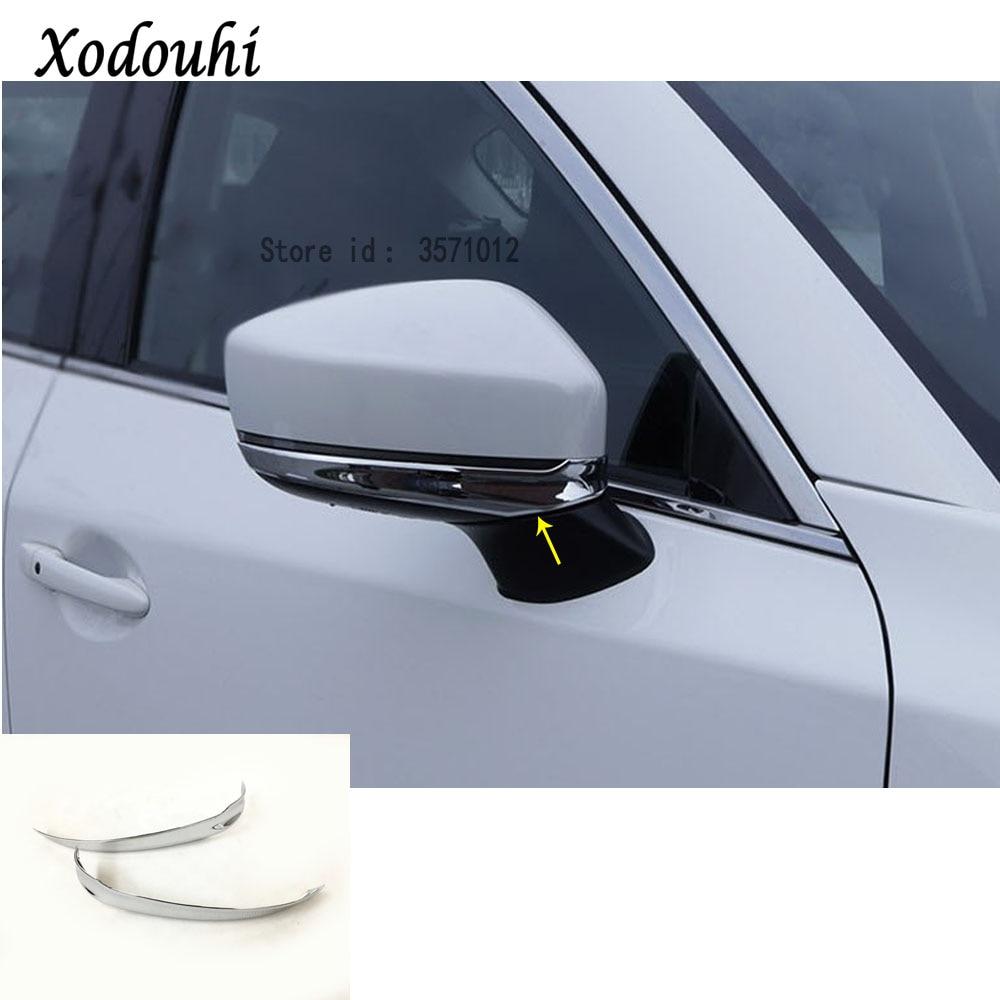 Carro de volta retrovisor espelho lateral tira varas painel guarnição 2 peças para mazda CX-5 cx5 2nd gen 2017 2018 2019 2020