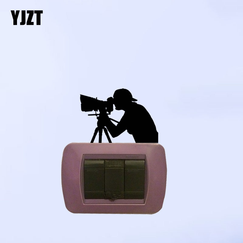 Interruptor de luz decorativo, fotografia, arte fotográfica, câmera, adesivos de parede, decalque 7ss0863