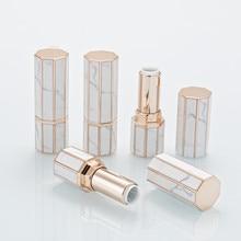 Mermer ruj tüpü 12.1mm Diy dudak balsamı tüpleri ev yapımı dudak sopa güzellik ruj balsam kabı boş kozmetik doğum günü makyaj