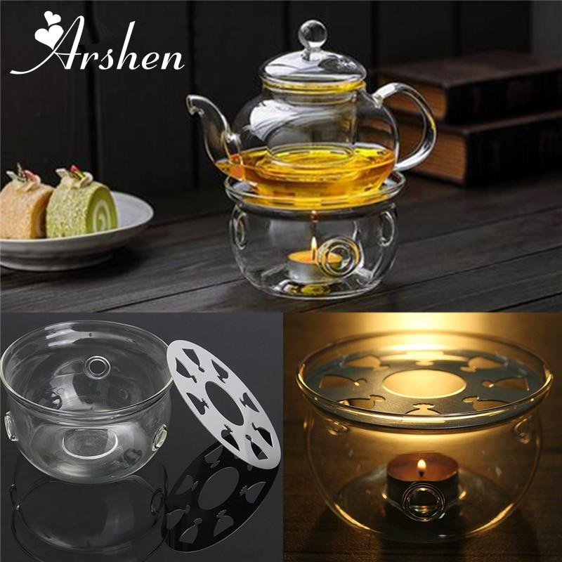 Чайник с тройником, круглая нагревательная основа, кофейная вода, ароматическая свеча, прозрачное стекло, жаростойкое, Нагреватель чая, изоляционное основание, подсвечник