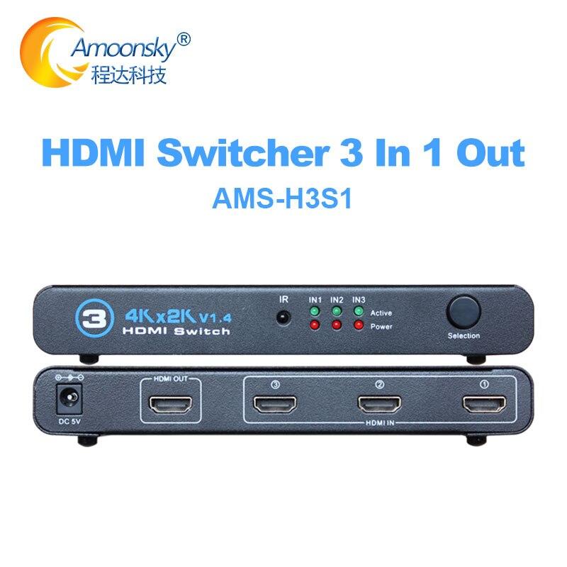 Conmutador 3 en 1 con salida HDMI, Compatible con 3 puertos, 4K...