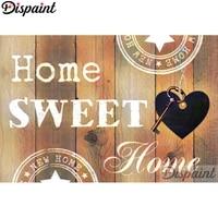 Dispaint     peinture diamant  Home sweet landscape  3D  perceuse carree ou ronde  bricolage  broderie  point en croix  decoration dinterieur  cadeau  A10338