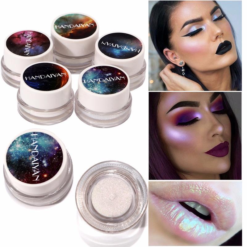 Marca HANDAIYAN Shimmer 5 colores crema iluminar Countour Base bronceadores Resaltadores paleta para rostro resaltado maquillaje belleza colorida