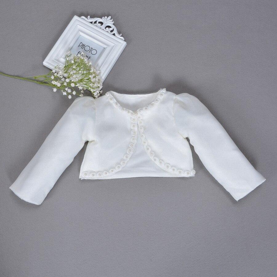 Para vestido-Chaqueta de bebé niñas blanco cárdigan DE BODA 2020 chal ropa para niñas de 1 a 2 años de edad 165002