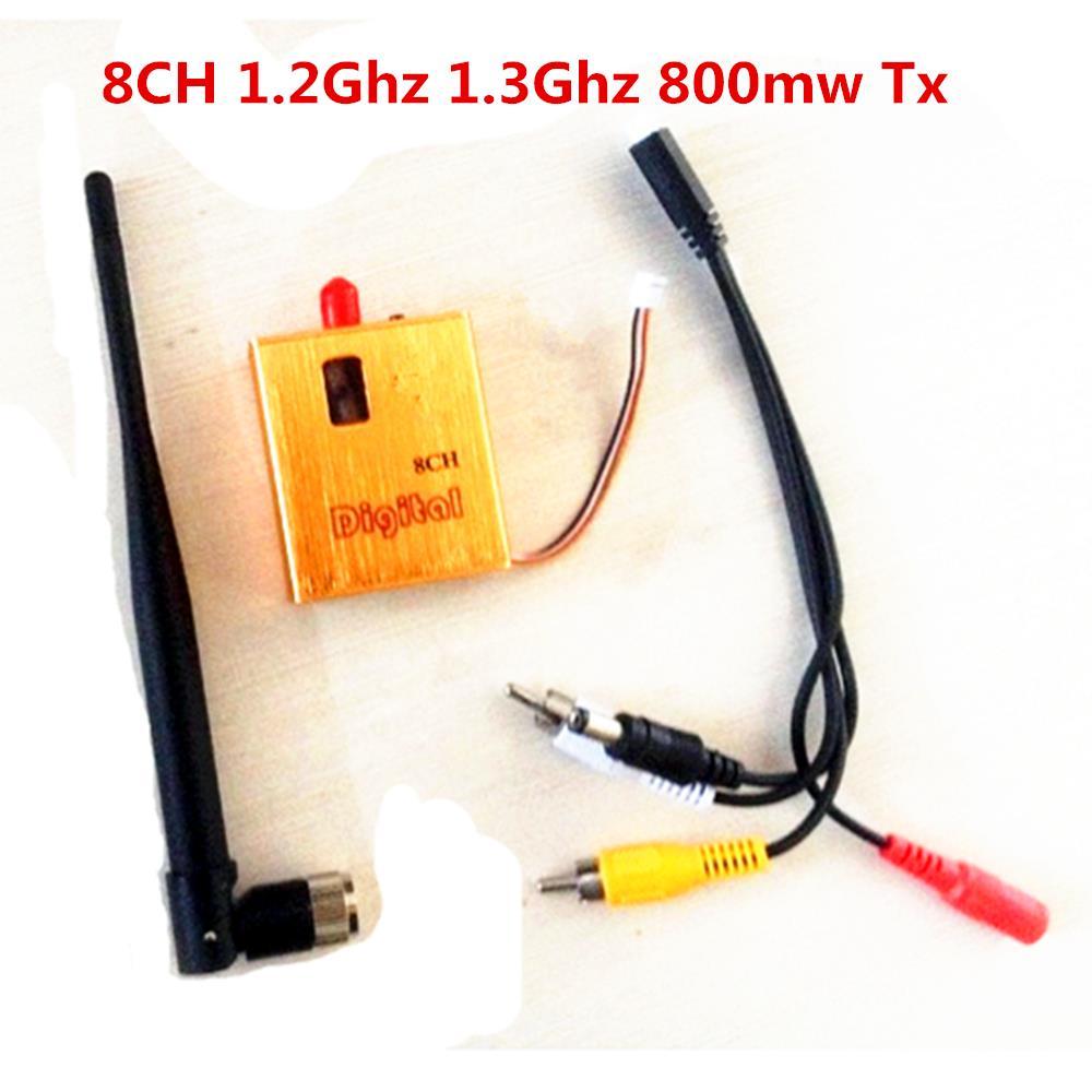 800 transmisor de vídeo MW AV sistema de transmisión de Audio y vídeo remitente 8CH 1,2 GHz 1,3 GHz