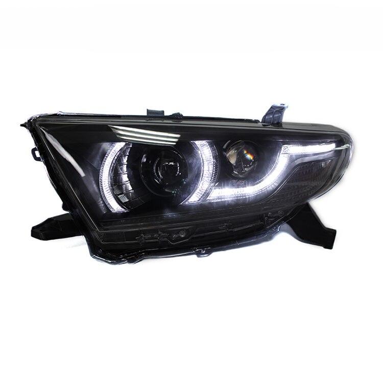 Ownsun New Eagle Eyes LED DRL bi-xenon proyector lentes faros para Toyota Highlander 2012 2013 2014