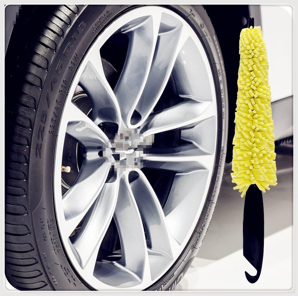 Herramienta de lavado de rueda de coche cepillo llanta lavado de neumáticos para Volvo recarga Heico Caresto T6 Toyota Infinity V60 S60 XC60