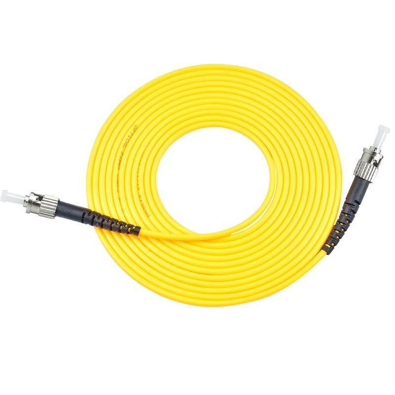 10 pces cabo de remendo da fibra ótica único modo st st cabo de ligação em ponte ótica sx 1 3 5 10 20 30 medidores ftth