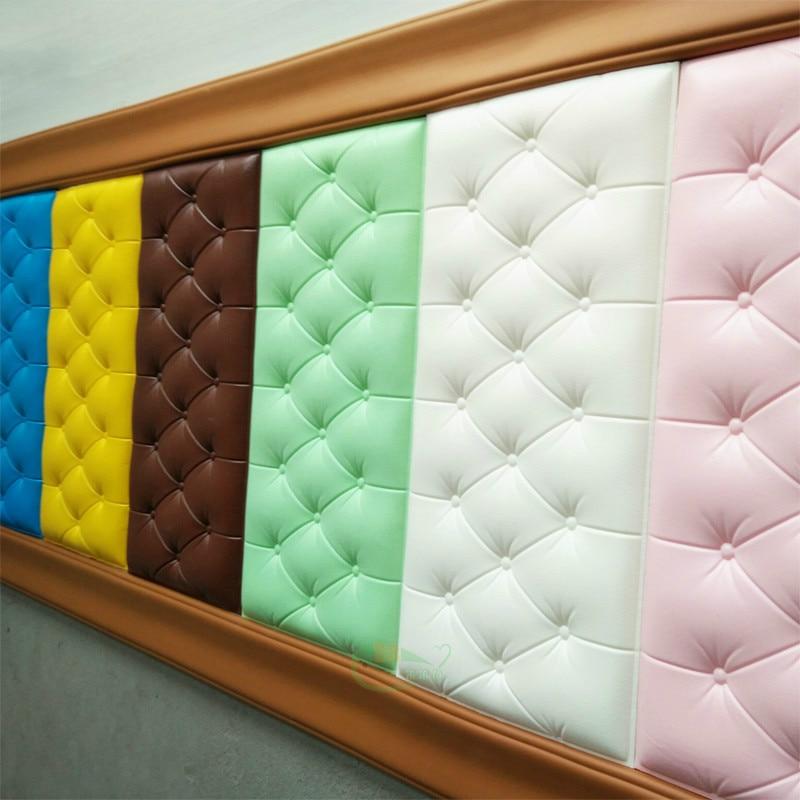 Pegatinas de pared estéreo 3d, papel tapiz autoadhesivo para dormitorio, cabecera, impermeable, de espuma, cojín trasero anticolisión, pared de fondo para Tv