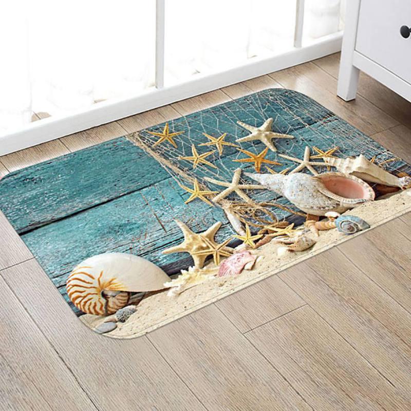 Alfombra de impresión 3D, Felpudo de pasillo, alfombra antideslizante para baño, Alfombra de cocina absorbente de agua, Alfombra de 12 estilos, tipo europeo creativo
