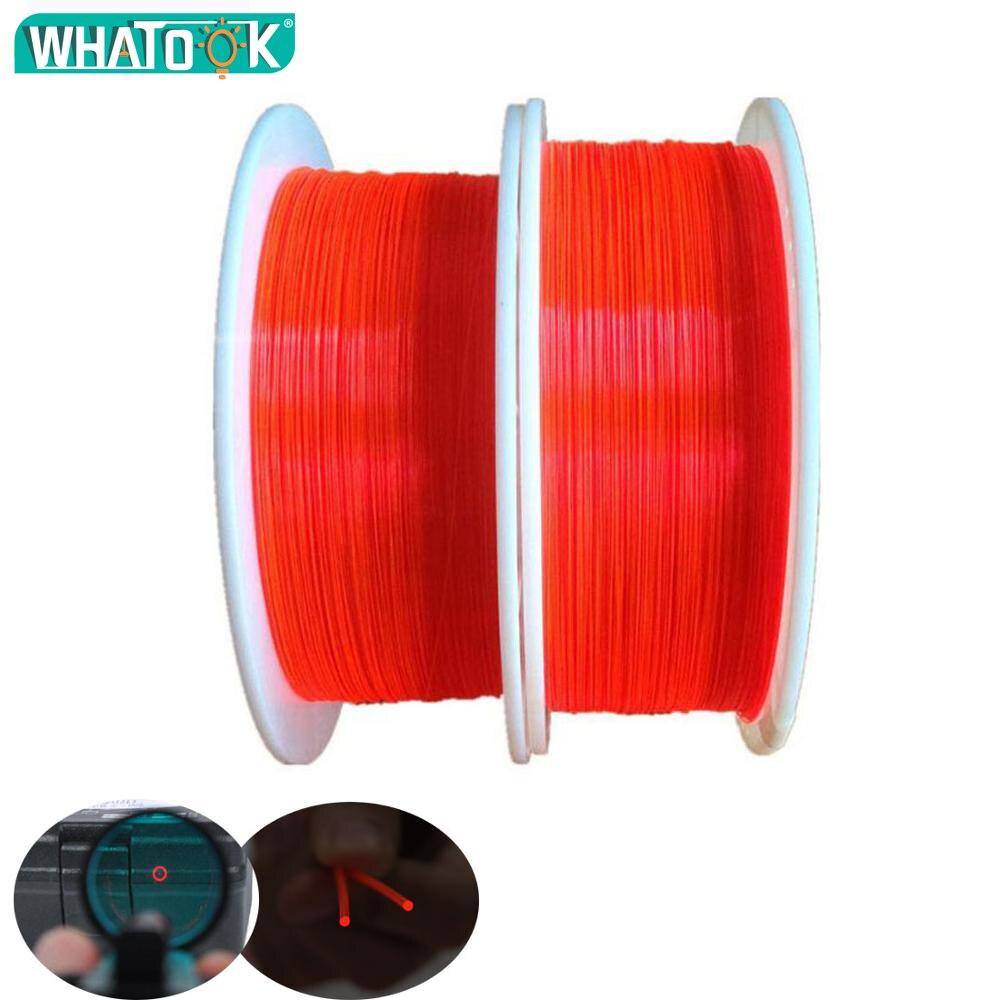 Barra de fibra óptica de 100M Hi-Capa luz roja naranja verde 1,0mm Cable óptico fluorescente pistola de neón Luz de cierre