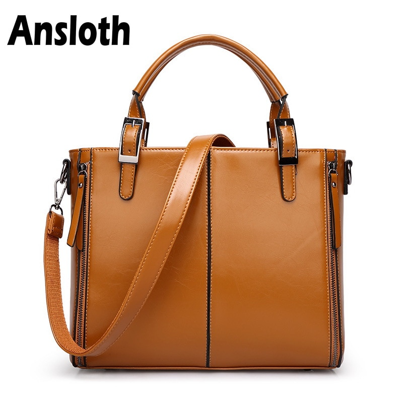 Ansloth Classic Design Women's Handbags Fashion Patchwork PU Leather Bags Women Shoulder Bag Crossbody Bags Vintage Totes HPS183