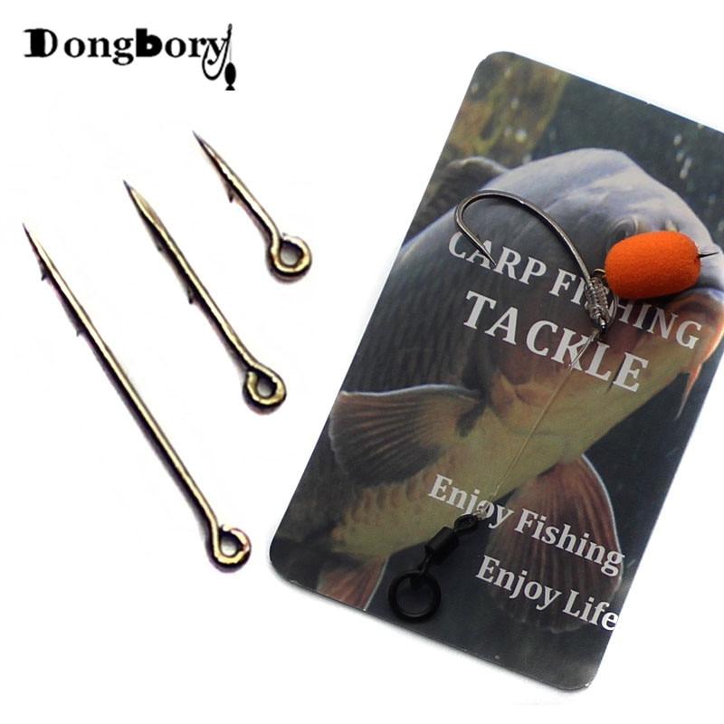 20PCS Metal Phoxinus Bait Spike  Carp Fishing Hook Bait Sting Boilies Pin Spike Maggot Corn Ronnie Hair Rigs Carp Feeder Fishing